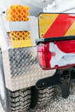 Rear marker lights and auto trailer Stock Image