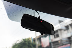 Rear mirror. Close up of rear mirror  of the car Royalty Free Stock Photography