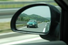 Rear mirror view royalty free stock photography