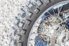 Rear motocross tire Stock Images