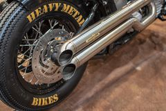 Heavy Metal Bikes exhaust pipe royalty free stock images