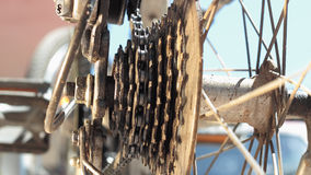 Rear MTB cassette with chain Royalty Free Stock Photos