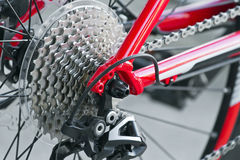 Rear MTB cassette with chain Stock Photo