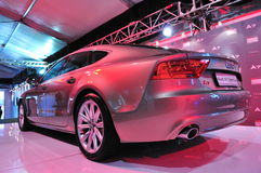 Rear of newly launched Audi A7 sportback at Audi Fashion Festival 2011 Royalty Free Stock Image