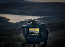 Free Rear Of Fuji XT-2 Mirrorless Camera & Battery Grip Taking Image Royalty Free Stock Photography - 123817767