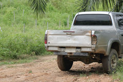 Rear of old pickup. Royalty Free Stock Photo