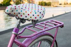 Rear part of fancy ladies bicycle. royalty free stock photos