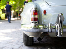 The rear part of a retro car Stock Photo