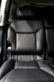 Rear passenger leather seat. Royalty Free Stock Photos