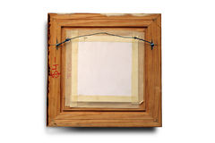Rear of picture frame Stock Photos