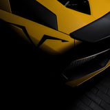 Rear quarter panel of the Aventador SV Royalty Free Stock Image