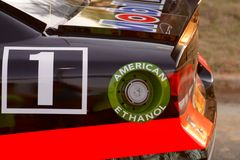 Rear Quarter of Tony Stewart's Race Car Stock Photos