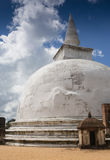 The rear of the Rankoth Vehera, largest Buddhist Royalty Free Stock Photo