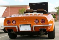 Rear of Rare Burnt Orange Corvette Sting Ray Royalty Free Stock Image