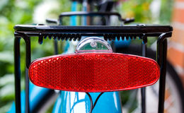 Rear red bicycle light. Object Stock Photos