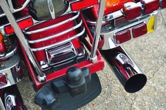 Rear of  red Motorbike Royalty Free Stock Photos