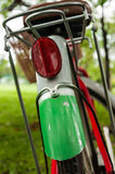 Rear red reflectors on bike wheels Stock Photo
