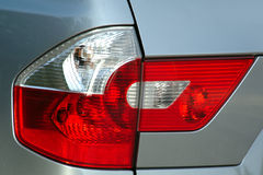 Rear reflector. Rear corner panel showing the light assembly of an SUV Royalty Free Stock Image