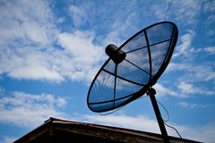 Rear Satellite dish . Stock Image