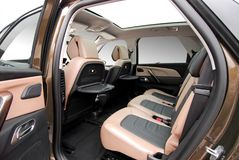 Rear seats in a luxury car Royalty Free Stock Photography