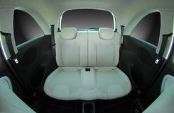 Rear seats in a small car Royalty Free Stock Photo