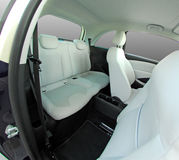Rear seats in a small car Royalty Free Stock Photos