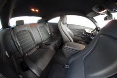 Rear seats in sport coupe Stock Images