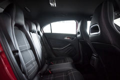 Rear seats of a sporty car Royalty Free Stock Photography
