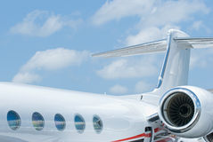 Rear section of corporate jet Stock Images
