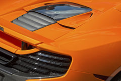 Rear section of sports racing car Royalty Free Stock Photography