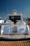 Rear section of a yacht. With ladder Stock Image