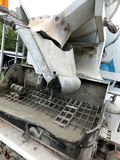 Rear self-propelled concrete mixer Royalty Free Stock Photos