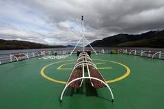 Rear of a ship Stock Photo