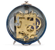 Rear side of the old alarm clock Royalty Free Stock Image
