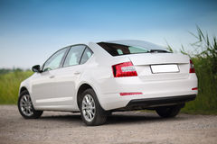 Rear-side view of a car Royalty Free Stock Images