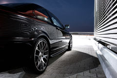 Rear-side view of a modern car Stock Photography