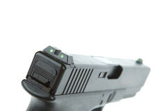 Rear sight of airsoft hand gun, glock model Royalty Free Stock Photos