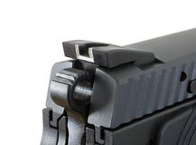 Rear sight and hammer Royalty Free Stock Photography