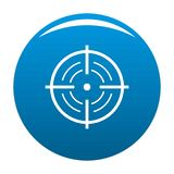 Rear sight icon blue vector. Rear sight icon vector blue circle isolated on white background Stock Image