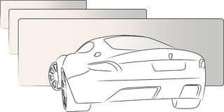 Rear  sketch car Stock Images