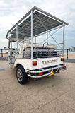 Rear of a solar powered tuc tuc Stock Image