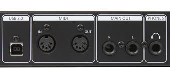 Rear of Sound Module Music instrument Audio Box Stock Photography
