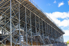 Rear Of Sports Stadium Bleachers Royalty Free Stock Photos