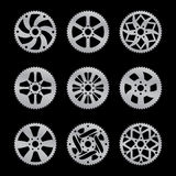 Rear sprocket vector pack Stock Photos
