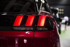 Rear stop LED light of SUV car royalty free stock photo