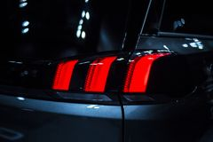 Rear stop light of crossover car stock images