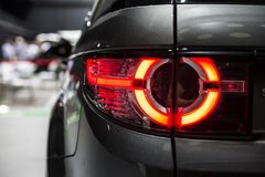 Rear stop light of modern car with led stock image