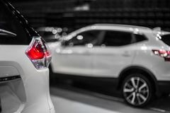 Rear stop light of white crossover car. Rear stop light of car stock photography Stock Photography