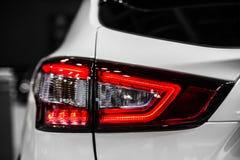 Rear stop light of white modern car. Rear stop light of car stock photography Stock Photos