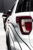 Rear stop light of large SUV crossover car royalty free stock image